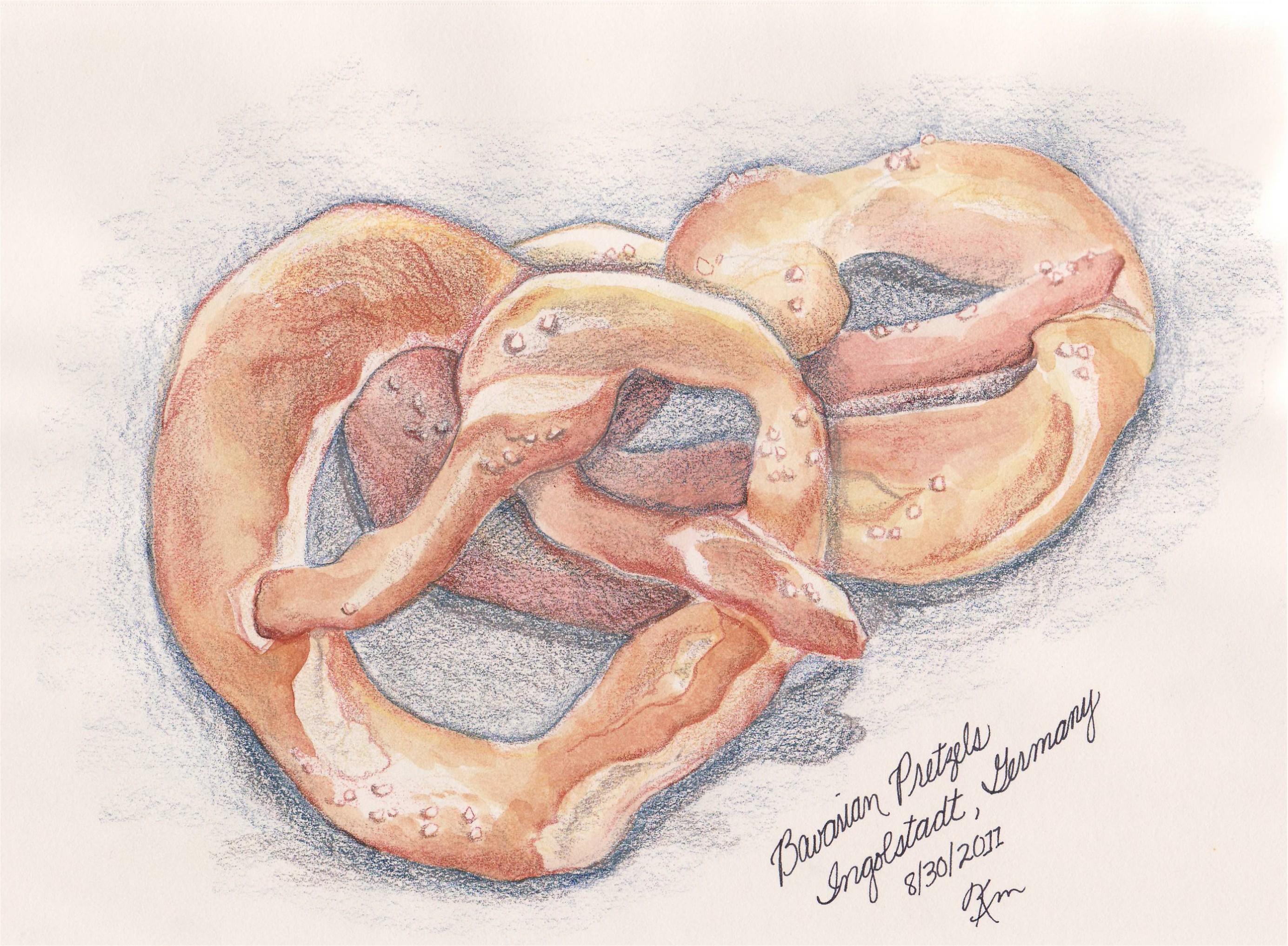 sketch of pretzels