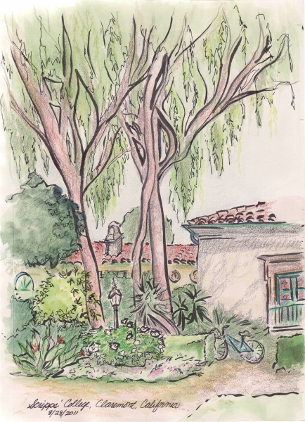 sketch of Scripps College