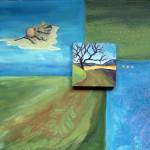 Painting of oak tree in winter