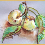 painting of Asian Pears
