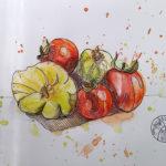final version of watercolor of veggies